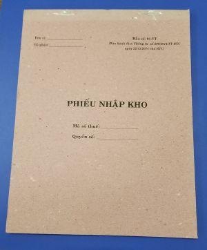 Phiếu nhập 1 liên (20x25 giấy tái sinh) 74 tờ